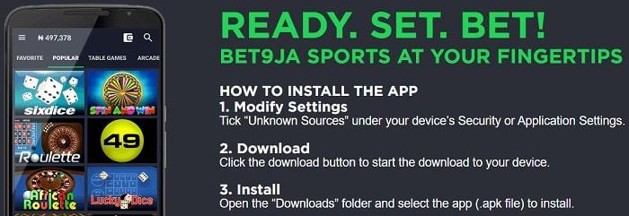 Bet9ja Mobile App
