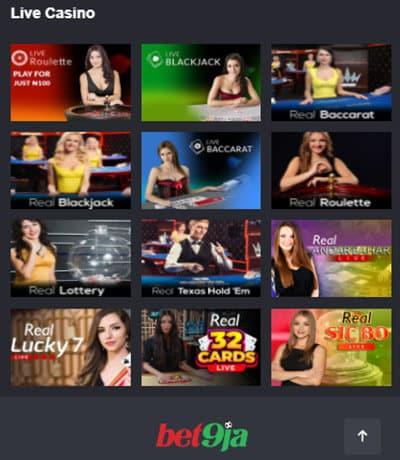 Bet9ja Live Casino